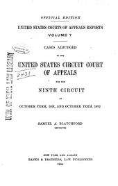 United States Courts of Appeals Reports: Cases Adjudged in the United States Circuit Court of Appeals, Volume 7