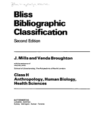 Bliss Bibliographic Classification Book