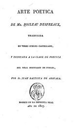 Arte poetica de Mr. Boileau Despreaux