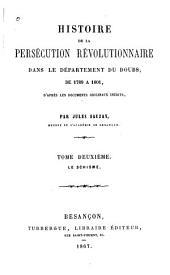 Histoire de la persécution révolutionnaire dans le département du Doubs, de 1789 à 1801: Le schisme