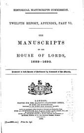 The Manuscripts of the House of Lords: Volume 1, Part 2