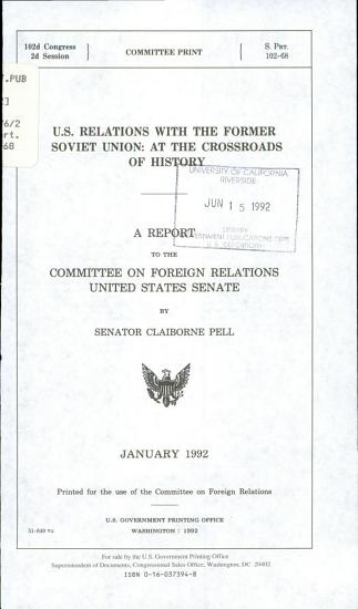 U S  Relations with the Former Soviet Union PDF