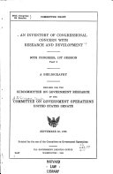 An Inventory of Congressional Concern with Research and Development; a Bibliography