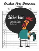 Chicken Foot Dominoes Game Score Sheet Book