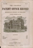 Download The Canadian Patent Office Record and Register of Copyrights and Trade Marks Book