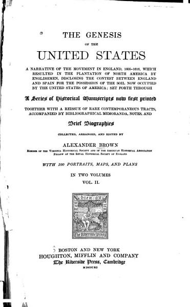 Download The Genesis of the United States Book