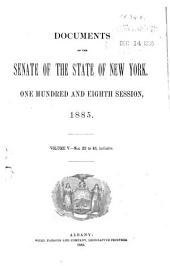 Documents of the Senate of the State of New York: Issues 22-46