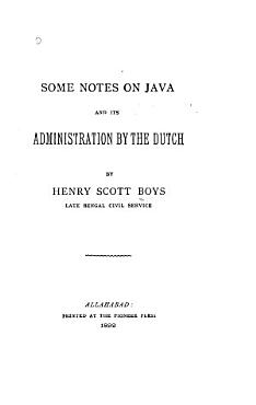Some Notes on Java and Its Administration by the Dutch PDF
