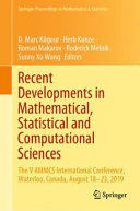 Recent Developments in Mathematical  Statistical and Computational Sciences PDF