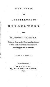 Geschied- en letterkundig mengelwerk: Volume 4,Deel 3