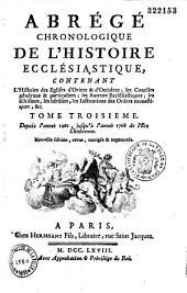 Abrégé chronologique de l'histoire ecclésiastique