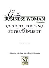 The Godly Business Woman Magazine Guide to Cooking and Entertainment PDF
