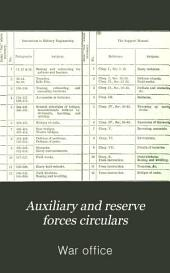 Auxiliary and reserve forces circulars