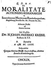 De moralitate actionum humanarum