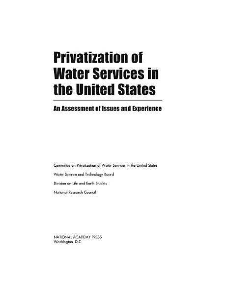 Download Privatization of Water Services in the United States Book
