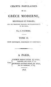Chants populaires de la Grèce moderne: Volume2