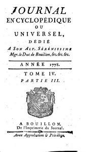 Journal encyclopédique: Volume4,Partie3