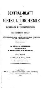 Biedermanns Zentralblatt für Agrikulturchemie und rationellen Landwirtschafts-Betrieb: Band 4