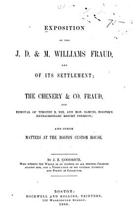 Exposition of the J  D    M  Williams Fraud  and of Its Settlement PDF