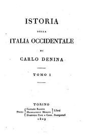 Istoria della Italia occidentale: Volume 1