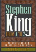 Stephen King from A to Z PDF