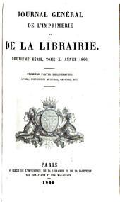 Journal général de l'imprimerie et de la librairie: Volume10,Numéro1