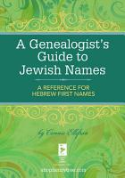 A Genealogist s Guide to Jewish Names PDF