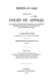 Reports of Cases Decided in the Court of Appeal