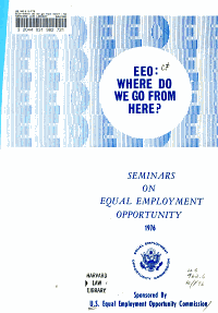 EEO  where Do We Go from Here