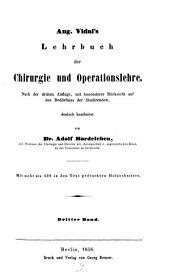 Lehrbuch der Chirurgie und Operationslehre: Band 3