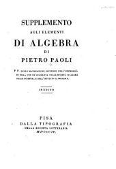 Elementi di algebra: Supplement