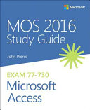 MOS 2016 Study Guide for Microsoft Access PDF