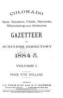 Colorado  New Mexico  Utah  Nevada  Wyoming and Arizona Gazetteer and Business Directory PDF