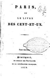 Paris, ou, Le livre des cent-et-un: Volumes9à10