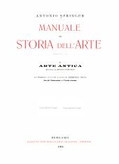 Manuale di storia dell'arte ...: Volume 1
