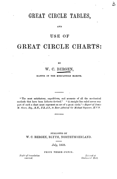Download Great Circle Tables  and Use of Great Circle Charts Book