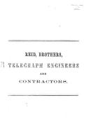 Description of the two instruments  for testing submarine cables  exhibited at the Manchester Exhibition  1861  by Reid Brothers  London PDF