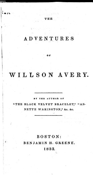 The Adventures of Willson Avery