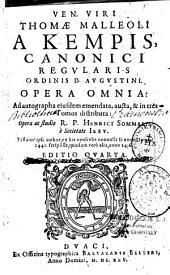 Opera omnia... in tres tomos distributa
