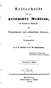 Zeitschrift für die gesammte Medicin: mit besonderer Rücksicht auf Hospitalpraxis und ausländische Literatur, Band 14