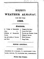 Murphey's Weather Almanac, for the year 1839 ... Fifth edition