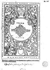 Decem librorum Moralium Aristotelis, tres conuersiones: prima Argyropili [...] secunda Leonardi Aretini, tertia vero antiqua per capita et numeros conciliate communi familiariq[ue] comme[n]tario ad Argyropilum adiecto