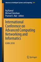 International Conference on Advanced Computing Networking and Informatics PDF