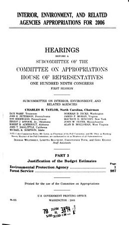 Interior  Environment  and Related Agencies Appropriations For 2006  Part 3  109 1 Hearings    PDF