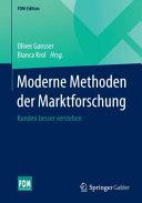 Moderne Methoden der Marktforschung PDF