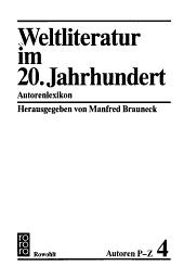 Weltliteratur im 20  Jahrhundert  Autoren P Z PDF