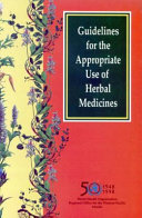 Guidelines for the Appropriate Use of Herbal Medicines PDF