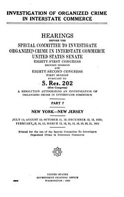 Investigation of Organized Crime in Interstate Commerce  pt  1 1A  Florida