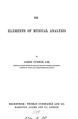 The elements of musical analysis PDF