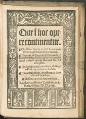 Que i[n] hoc opere continentur Christiani homi[ni]s hexametris institutio: Isocratis ad Demonicu[m] Parenaesis, p[er] Rudolphu[m] Agrigola[m] e graeco in latinu[m] sermone[m] traducta, perq[em] Martinu[m] Dorpiu[m] recognita...